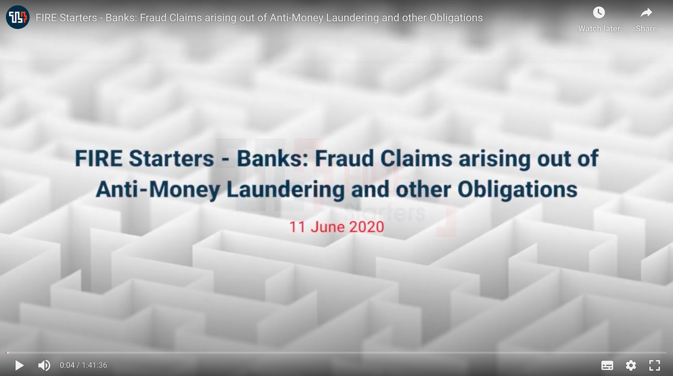 FIRE Starters - Banks: Fraud Claims arising out of Anti-Money Laundering and other Obligations