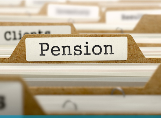 file labelled Pension